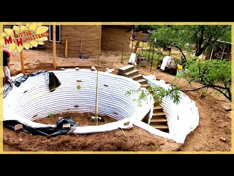 Completing the Stairs | Underground Earthbag Building Ep 5 |