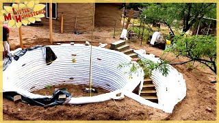 Completing the Stairs | Underground Earthbag Building Ep 5 | Weekly Peek thumbnail