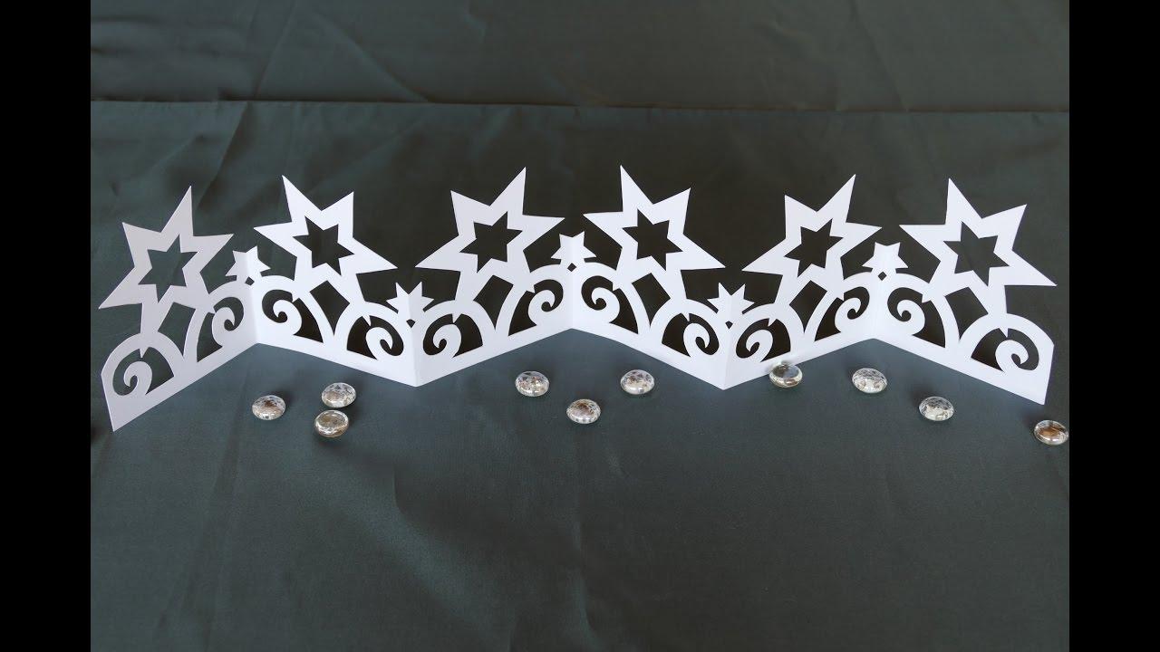 Weihnachtsbasteln Sterne Aus Goldpapier.Sterne Stars Basteln Filigranes Ornamentband Aus Papier