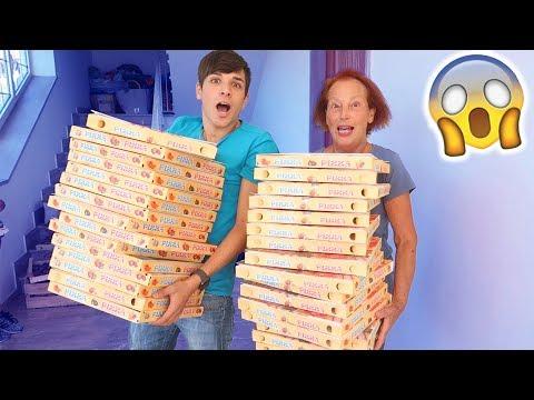 COMPRO 100 PIZZE PER IL COMPLEANNO DI MIA NONNA!!! (*prank*)