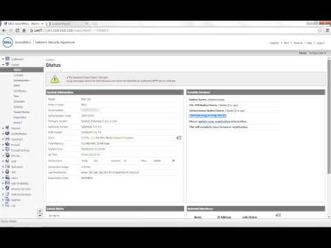 How To Manualy Update The Licenses On SonicWALL Firewall