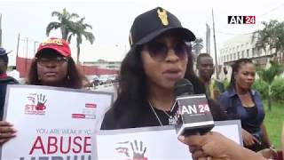 AGAIN TONTO DIKEH GETS EMOTIONAL DURING WALK AGAINST DOMESTIC VIOLENCE IN LAGOS