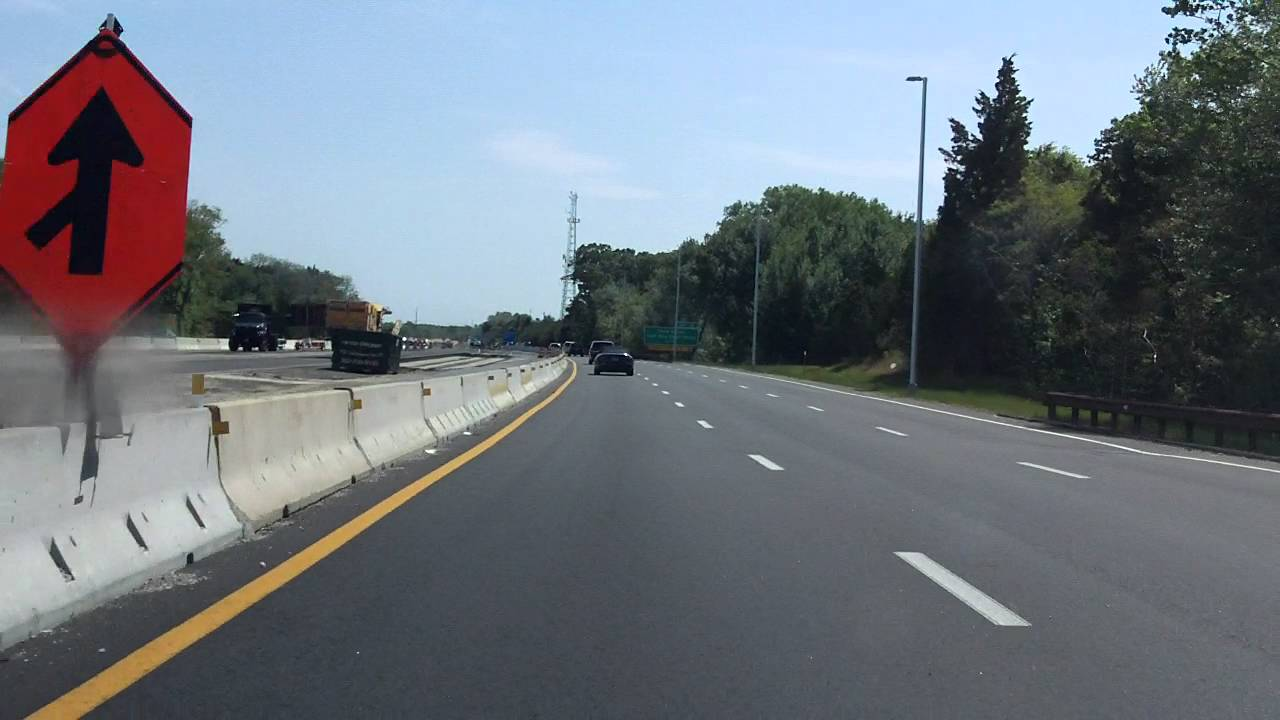 Garden State Parkway Exits 11 To 9 Southbound 2015 Construction Update Youtube