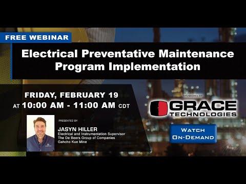 Webinar | Electrical Preventative Maintenance Program Implementation