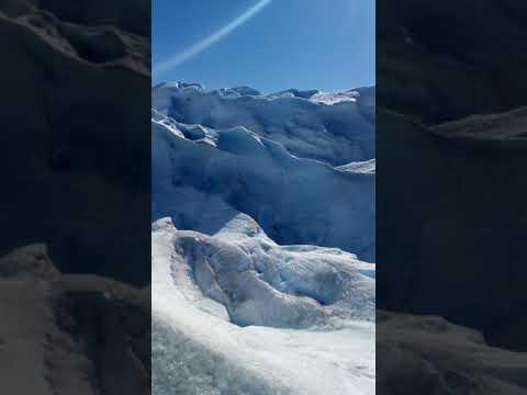 Perito moreno glacier, finally at the top of the trek.Argentina.