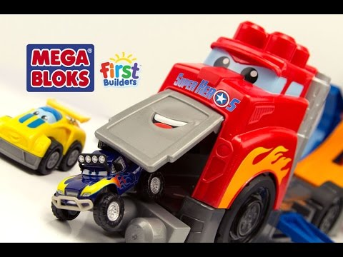 MegaBloks Camion de course Cascades #Cars Jouet First Builders Fast Track Racing Rig Toy Review