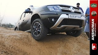 Renault Duster AWD: Tries an old obstacle.