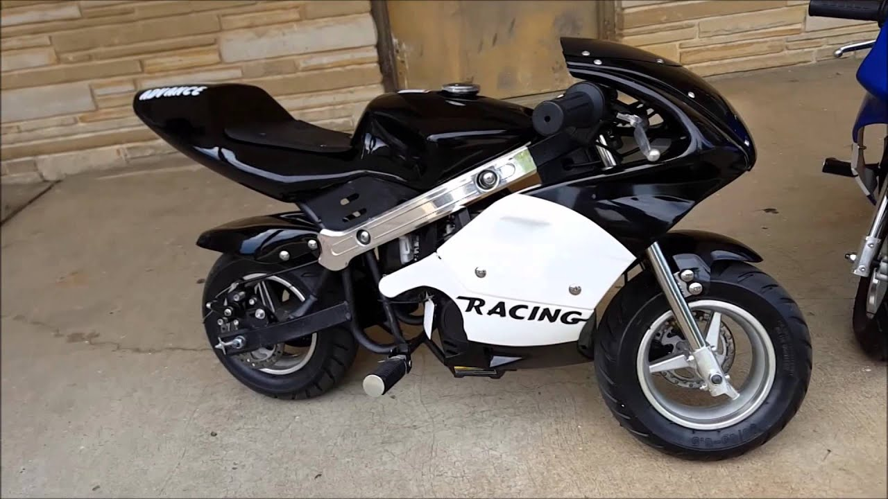 Big Toys Street Pocket Bike 40cc 4 stroke - YouTube
