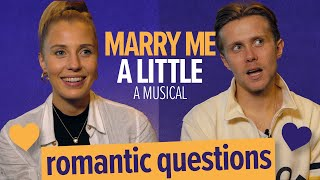 Rob Houchen and Celinde Schoenmaker Answer Romantic Questions | Marry Me A Little