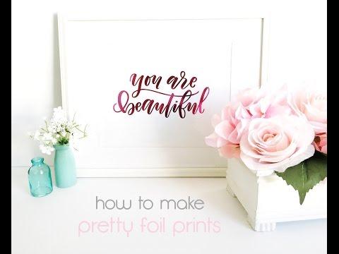 *:・゚xoxo christine | how to add pretty foil to any digital print ・゚*.
