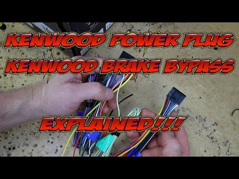 Kenwood Excelon's wire harness colors and brake byp ... on