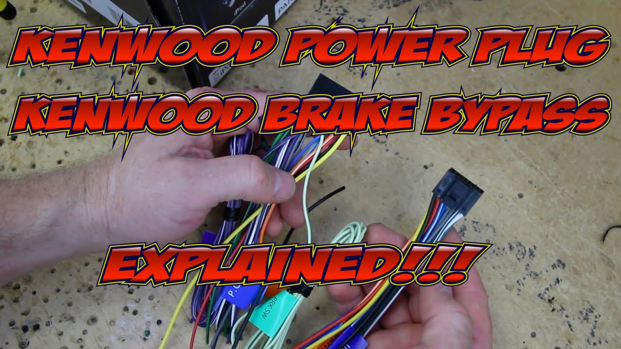 Kenwood Excelon's wire harness colors and brake byp explained on