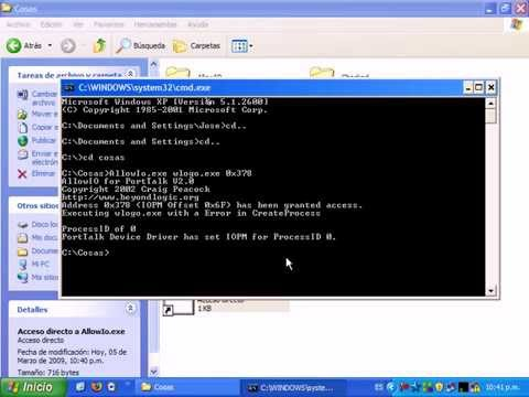Habilitar Puerto Paralelo en Windows XP para envío de datos