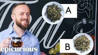 In this episode of 'Price Points', Epicurious challenges tea expert Emeric Harney of Harney & Sons to guess which one of two teas is more expensive. Emeric breaks down five in total before making his guesses!  https://www.harney.com/  Still haven't subscribed to Epicurious on YouTube? ►► http://bit.ly/epiyoutubesub  ABOUT EPICURIOUS Browse thousands of recipes and videos from Bon Appétit, Gourmet, and more. Find inventive cooking ideas, ingredients, and restaurant menus from the world's largest food archive.  Tea Expert Guesses Cheap vs Expensive Tea | Price Points | Epicurious