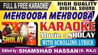 Mehbooba Mehbooba Karaoke Sholay With Scrolling Lyrics By Shamshad Hassan