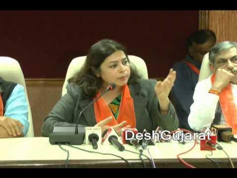 Meenakshi Lekhi makes BJP's stand clear on AAP in Ahmedabad media meet