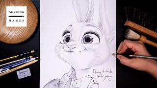 Drawing Sketch Zootopia - Judy [Drawing Hands]
