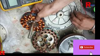 Ceiling Fan installation | ceiling fan primary and secondary winding connection capacitor connection