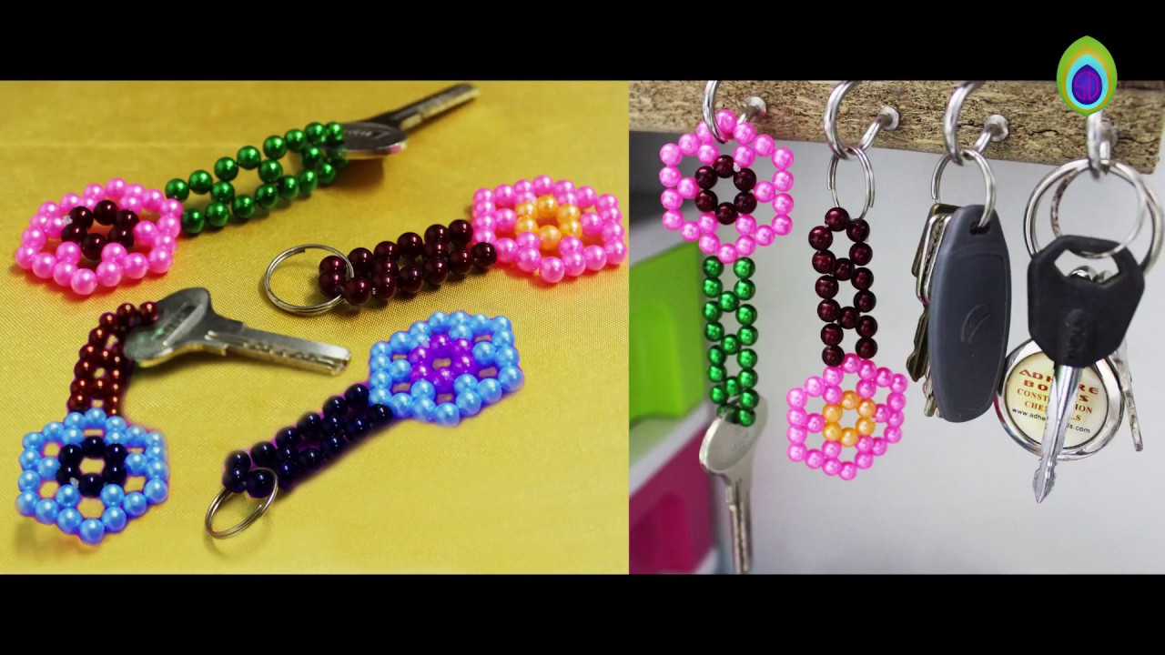 Keychain Diy Easy To Make Beautiful Shiney Bead Keychain Easy Crafts Ideas At Home