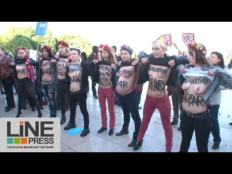 Féministes & Femen se rassemblent pour la libération des nigérianes / Paris - France 13 mai 2014