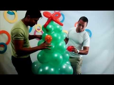 Rbol de navidad con globos youtube - Como decorar un salon en navidad ...