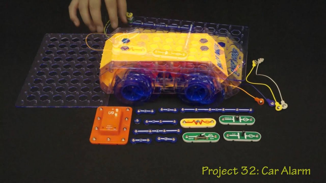 Snap Circuits Deluxe Rover Model Scrov 50 Youtube Lights Electric Circuit Science Kit By Elenco
