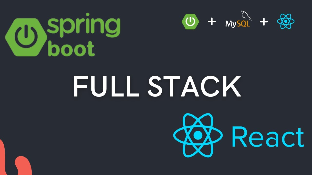 Full Stack web application using Spring Boot and React