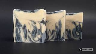 Blue Coconut Flame Swirl | Design Video | The Ultimate Guide to Hot Process Soap