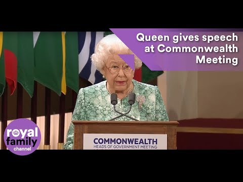 The Queen makes speech at Commonwealth Heads of Government Meeting
