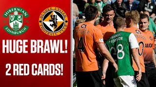 Double red card sparks mass brawl, Hibernian 1-1 Dundee United, 17/08/2013