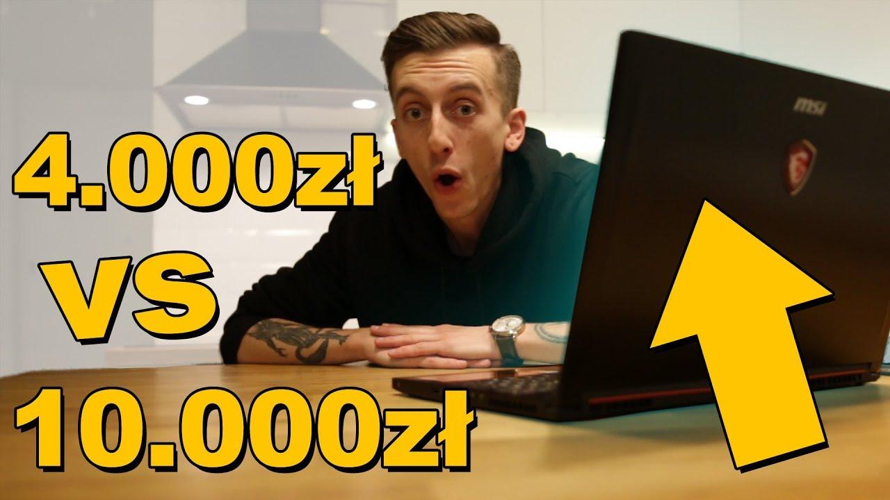 Laptop gamingowy za 4.000zł vs. 10.000zł