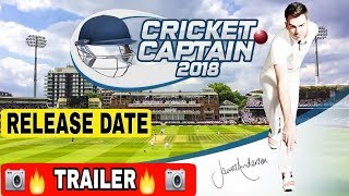Cricket captain 2018 trailer and releasedate ULTRA HD GRAPHICS || TECH WIDFRNDZ