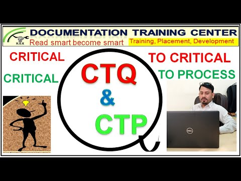 What Is CTQ Vs CTP, Difference Between CTP & CTQ, What Is Critical To Quality & Critical To Process