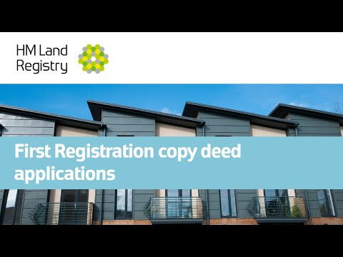 First Registration copy deed applications