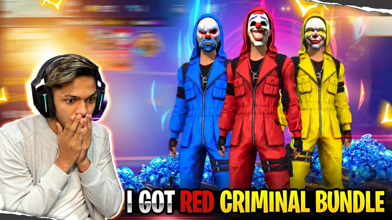 10 Million Special I Got Red Criminal Bundle & New Gaming House ??? Garena Free Fire