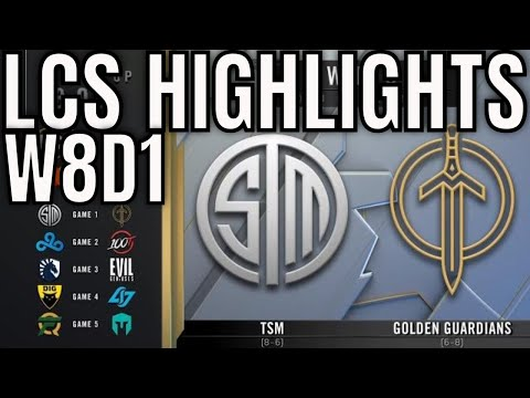 LCS Highlights ALL GAMES Week 8 Day 1 Spring 2020 League of Legends Championship Series
