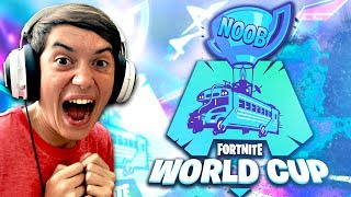 Fortnite NOOB COUPE MONDIALE! - (Win Skins!)