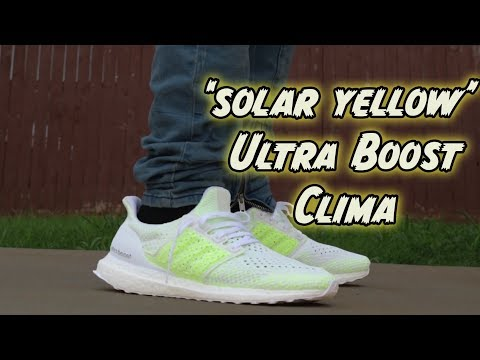 'SOLAR YELLOW' ULTRABOOST CLIMA REVIEW + ON FOOT !!!