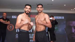 AMIR KHAN VS BILLY DIB WBC TITLE WEIGH IN REACTION