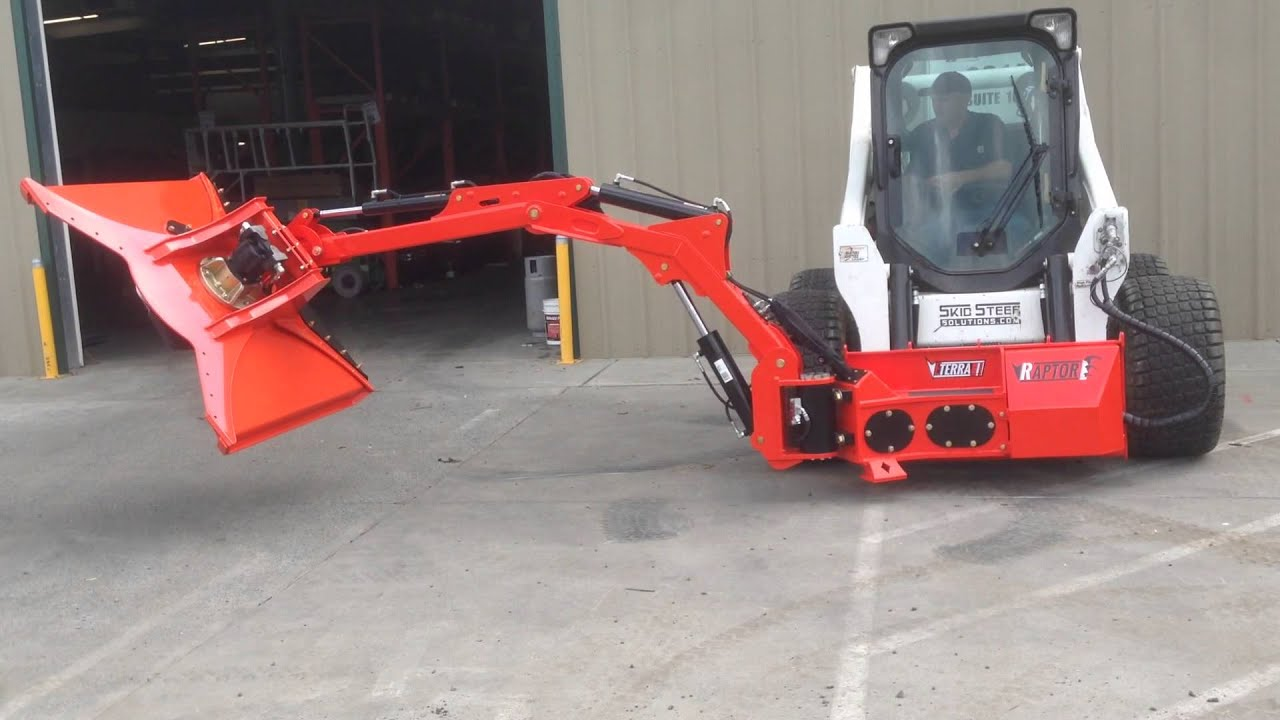 Bobcat Mounted Boom Mower Test With 48 Quot Cyclone Rotary