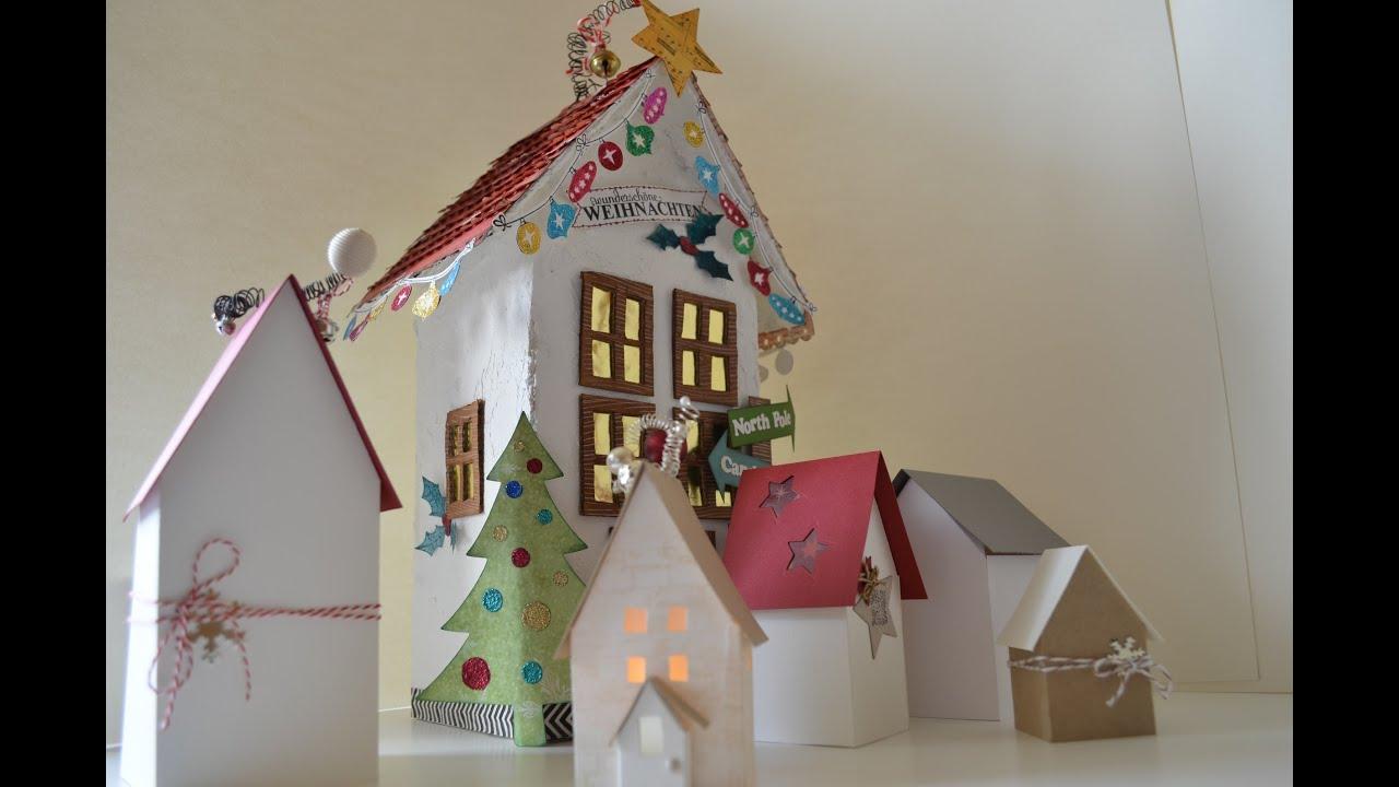 Tutorial Süße Deko-Häuser [PaperArt,selber machen, basteln mit ...