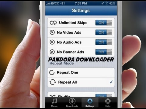 Pandora Downloader Cydia Tweak Unlimited Skips No Ads And Downloads Youtube