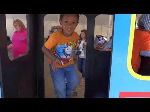 Jamison plays on Thomas the Train