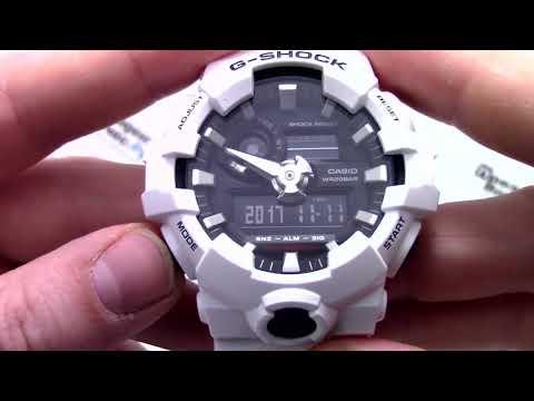 Часы Casio G - SHOCK GA-700-7A - Инструкция, как настроить от PresidentWatches.Ru