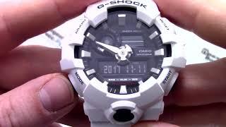 Годинник Casio G-SHOCK GA-700-7A - Інструкція, як налаштувати від PresidentWatches.Ru