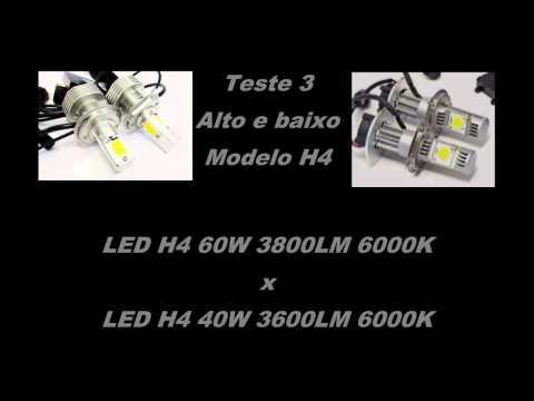 Teste comparativo de farol Led H4 e H11 - 5 modelos Lumiled - Cree - COB