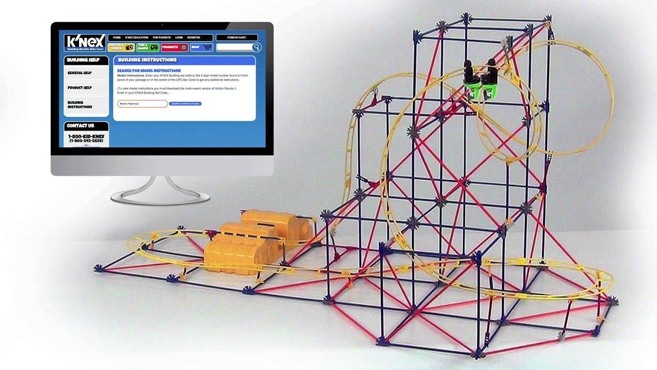 Knex Hyperspeed Hangtime Roller Coaster Building Set Youtube