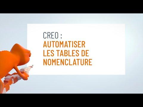 Automatiser les tables de nomenclature dans Creo