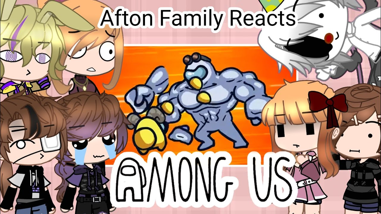 Download Afton Family + Glitchtrap & Ennard reacts to AMONG US Memes | Gacha club | Credits in desc.