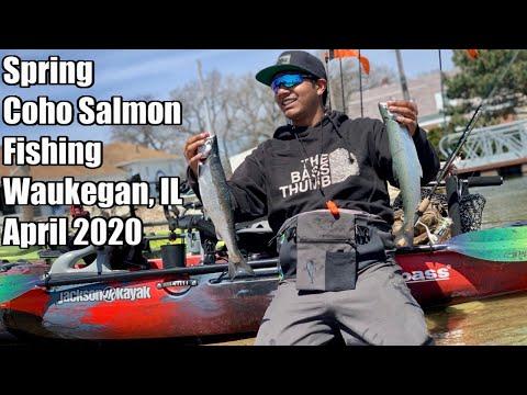 Spring Coho Salmon Fishing In Waukegan Harbor, IL 2020